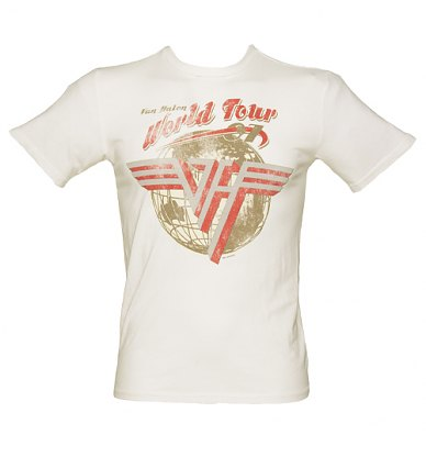 Mens Off White Van Halen World Tour T-Shirt from Chaser LA