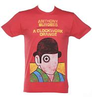 Men's Orange Anthony Burgess A Clockwork Orange Novel T-Shirt from Out Of Print
