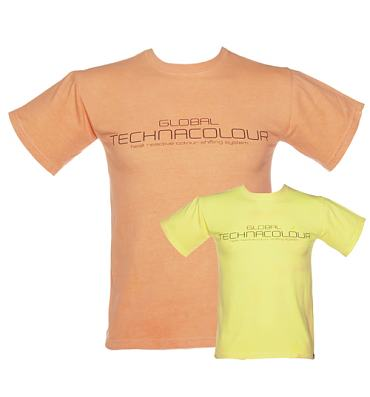 Men's Orange To Yellow Heat Sensitive T-Shirt from Global Technacolour