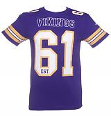 Men's Purple NFL Minnesota Vikings Lineman T-Shirt from Majestic Athletic