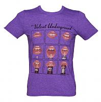 Men's Purple The Velvet Underground Lips T-Shirt