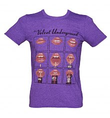 Men's Purple The Velvet Underground Lips T-Shirt [View details]