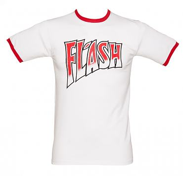 Men's Queen Flash White And Red Ringer T-Shirt