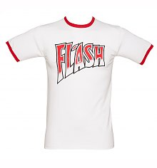 Men's Queen Flash White And Red Ringer T-Shirt [View details]