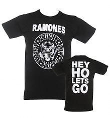 Men's Ramones Hey Ho Front & Back T-Shirt [View details]