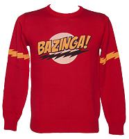 Men's Red Bazinga Big Bang Theory Jumper
