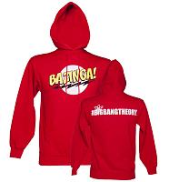 Men's Red Bazinga Logo Big Bang Theory Hoodie