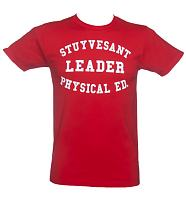 Men's Red Beastie Boys Stuyvesant Ad-Rock T-Shirt