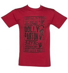 Men's Red Dolly Parton Poster T-Shirt [View details]