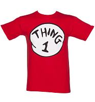 Men's Red Dr Seuss Thing 1 T-Shirt