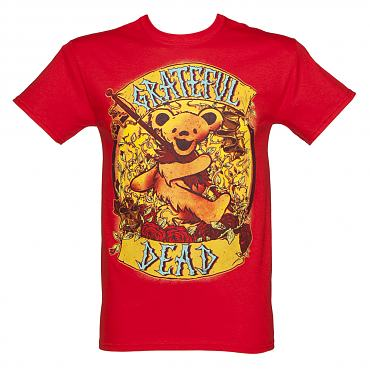 Men's Red Grateful Dead Banner T-Shirt