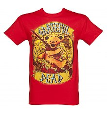 Men's Red Grateful Dead Banner T-Shirt [View details]