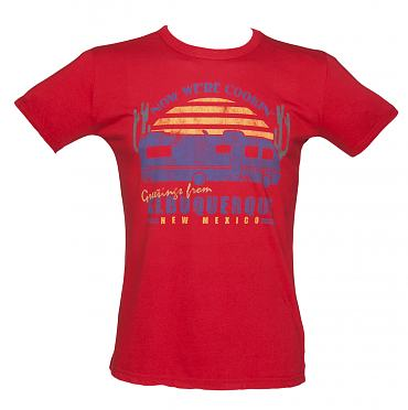 Men's Red Greetings from Albuquerque Breaking Bad Vintage T-Shirt
