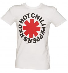Men's White Red Hot Chili Peppers Asterisk Logo T-Shirt [View details]