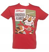 Men's Red Kelloggs Tony The Tiger Vintage Poster T-Shirt
