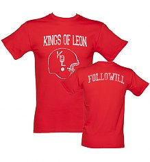 Men's Red Kings Of Leon Followill T-Shirt [View details]