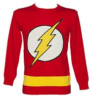 Men's Red Lightweight DC Comics Flash Jumper