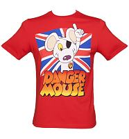 Men's Red Union Jack Dangermouse T-Shirt