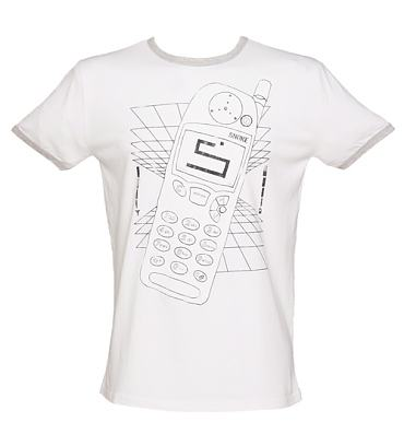 Men's Retro Phone and Snake Ringer T-Shirt