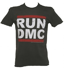 Men's Charcoal Run DMC Logo T-Shirt from Amplified Vintage [View details]