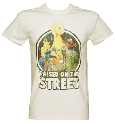 Men's Sesame Street Raised On The Street T-Shirt