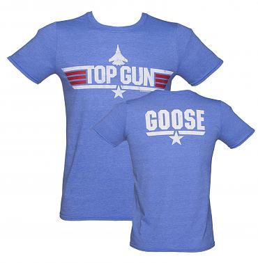 Men's Sky Blue Top Gun Goose T-Shirt