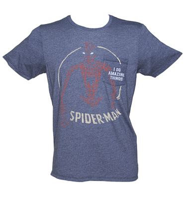 Men's Spiderman I Do Amazing Things T-Shirt from Junk Food