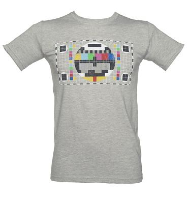 Men's Sport Grey Retro TV Test Pattern T-Shirt