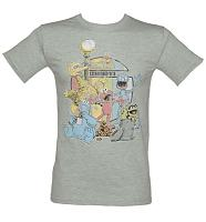 Men's Sport Grey Sesame Street 1969 T-Shirt