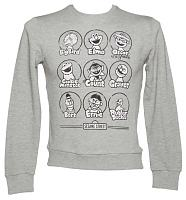 Men's Sport Grey Sesame Street Characters Sweater