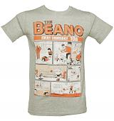 Men's Sport Grey Vintage Beano Comic Cover T-Shirt