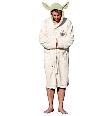Men's Star Wars Yoda Towelling Hooded Dressing Gown With Ears