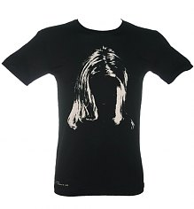 Men's Steve Gullick Kurt Cobain Hair Print T-Shirt from Worn By [View details]