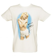 Men's Sugar White All The Best Debbie Harry T-Shirt from Junk Food [View details]