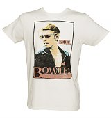 Men's Sugar White David Bowie Rebel T-Shirt from Junk Food