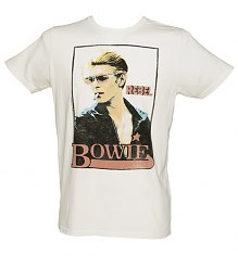 Men's Sugar White David Bowie Rebel T-Shirt from Junk Food [View details]