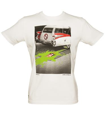 Men's Sugar White Slimy Road Kill T-Shirt from Chunk