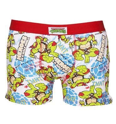 Men's Teenage Mutant Ninja Turtles All Over Print Boxer Shorts