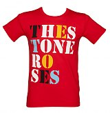 Men's The Stone Roses Font Logo Red T-Shirt