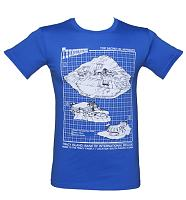 Men's Thunderbirds Tracy Island Blueprint T-Shirt