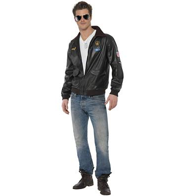 Men's Top Gun Maverick Bomber Jacket Fancy Dress Costume