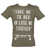 Men's Top Gun Take Me To Bed Quote T-Shirt