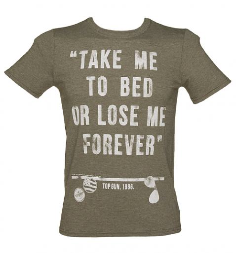 Men's Top Gun Take Me To Bed Quote T-Shirt from TruffleShuffle