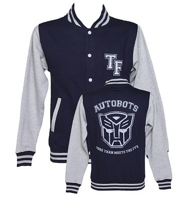 Men's Transformers Autobots More Than Meets The Eye Varsity Jacket
