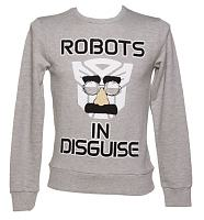 Men's Transformers In Disguise Grey Jumper