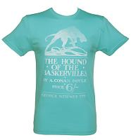 Men's Turquoise Arthur Conan Doyle Hound Of The Baskervilles T-Shirt from Out Of Print