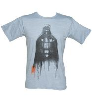 Men's Vintage Blue Dripping Vader Star Wars T-Shirt from Junk Food