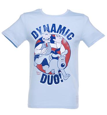 Men's Wallace and Gromit Dynamic Duo T-Shirt from Too Late To Dye Young