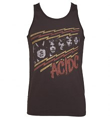 Men's Washed Black AC/DC Faces Sleeveless Vest from Junk Food [View details]