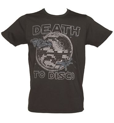 Men's Washed Black Death To Disco Star Wars T-Shirt from Junk Food